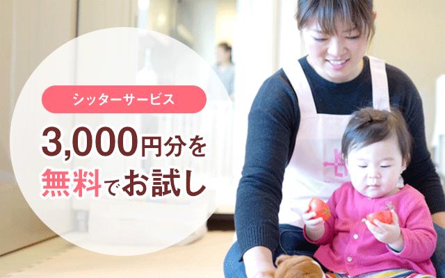 シッターサービス3000円分のポイントプレゼントキャンペーン